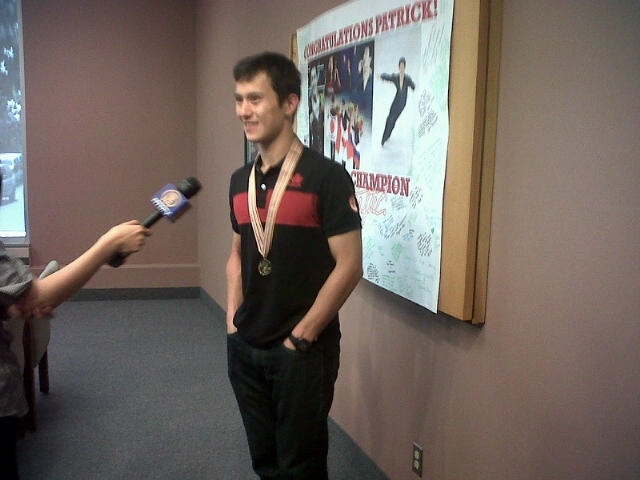 Patrick Chan at today's press conference